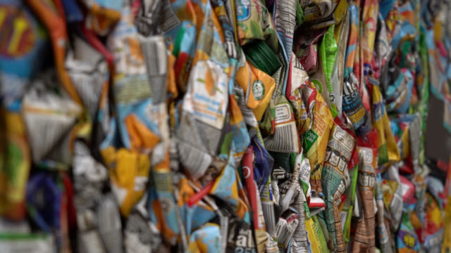 close up of recycled bulk of juice boxes - refreshment stock videos & royalty-free footage