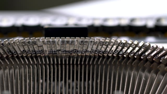 4k close up of retro & vintage style typewriter in studio - storytelling stock videos & royalty-free footage