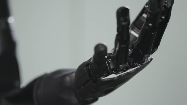 close up of robotic arm - artificial limb stock videos & royalty-free footage