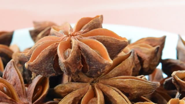 close up of rotating star anise - star anise stock videos and b-roll footage