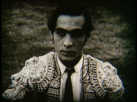 b/w 1922 close up of rudolph valentino as matador / blood and sand - bullfighter stock videos & royalty-free footage