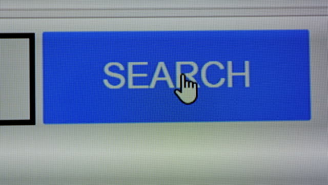 Close up of Search button on screen