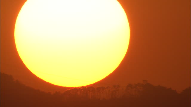 Close Up Of Setting Sun