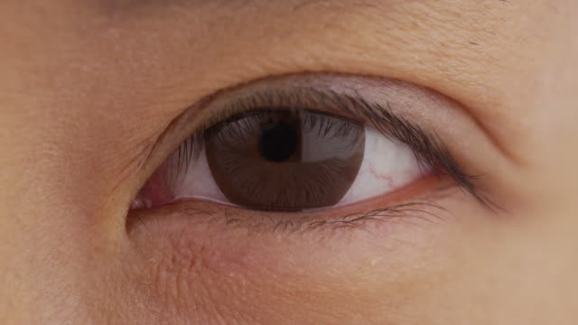 Close up of single woman's eye