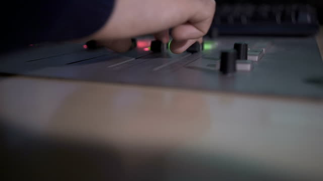 close up of sound mixing console - knob stock videos & royalty-free footage