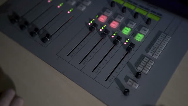 close up of sound mixing console - sound mixer stock videos & royalty-free footage