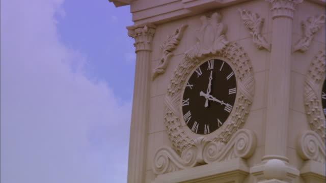 close up of steeple clock - steeple stock videos & royalty-free footage