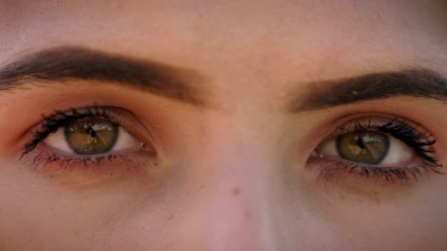 close up of teenage sad eyes.sadness and depression - only teenage girls stock videos & royalty-free footage