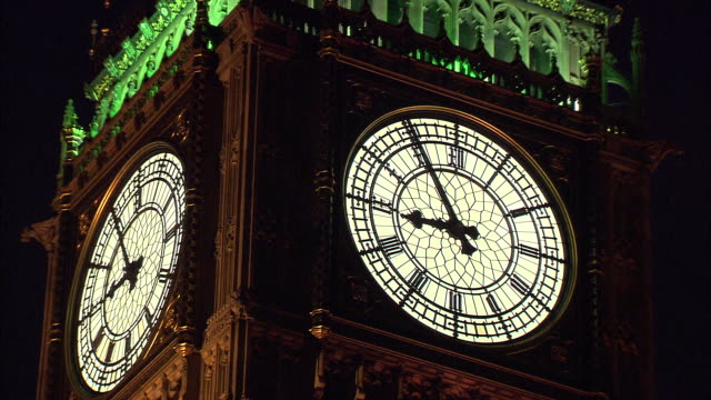 close up of the clock face on big ben in london, england. - music or celebrities or fashion or film industry or film premiere or youth culture or novelty item or vacations stock videos & royalty-free footage