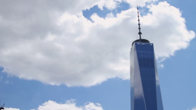 Close up of the Freedom Tower / World Trade Center