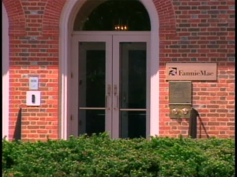 close up of the front entrance of the fannie mae headquarters in washington, d.c. - recession stock videos & royalty-free footage