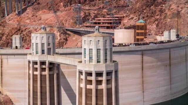 vídeos de stock, filmes e b-roll de close-up da represa hoover - represa hoover
