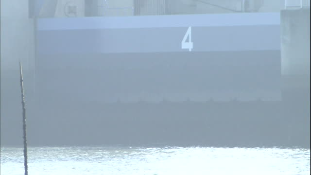 close up of tidal gates in isahaya bay - number 4 stock videos & royalty-free footage