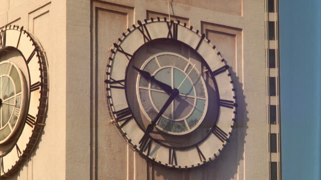 close up of time lapse clock on Port of San Francisco building