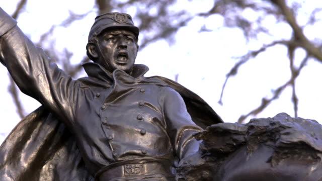 vídeos y material grabado en eventos de stock de close up of ulysses s grant memorial statue in dc - ulysses s grant