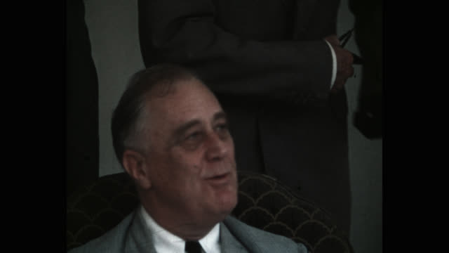 close up of us president franklin d. roosevelt talking to cabinet members in white house, washington dc, usa - less than 10 seconds stock videos & royalty-free footage
