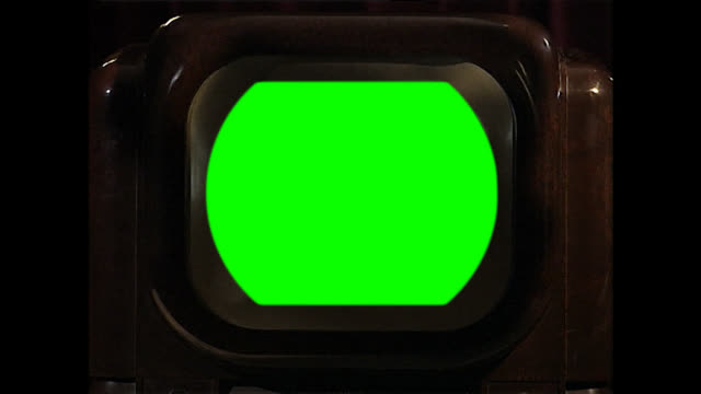close up of vintage television set with green screen - chroma key stock videos & royalty-free footage