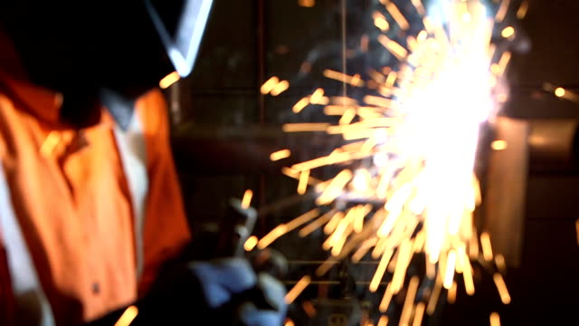 close up of welder working - welding stock videos & royalty-free footage