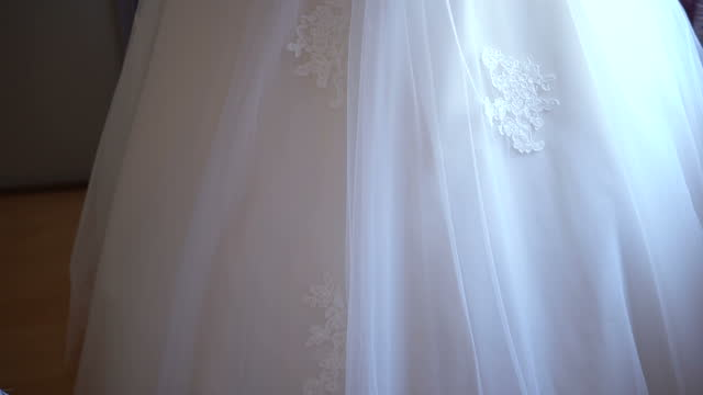 close up of white wedding dress - white dress stock videos & royalty-free footage