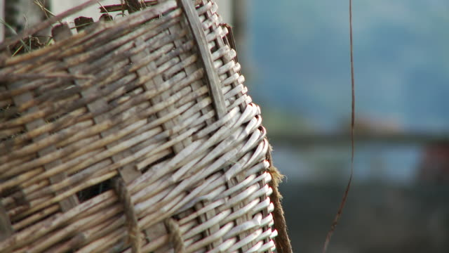 close up of wicker basket - wicker stock videos & royalty-free footage