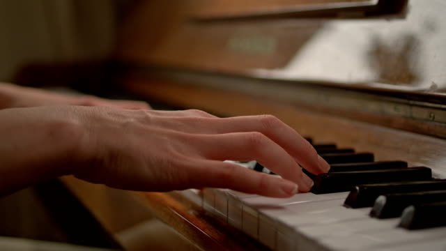 close up of woman hands classic piano playing - piano stock videos & royalty-free footage