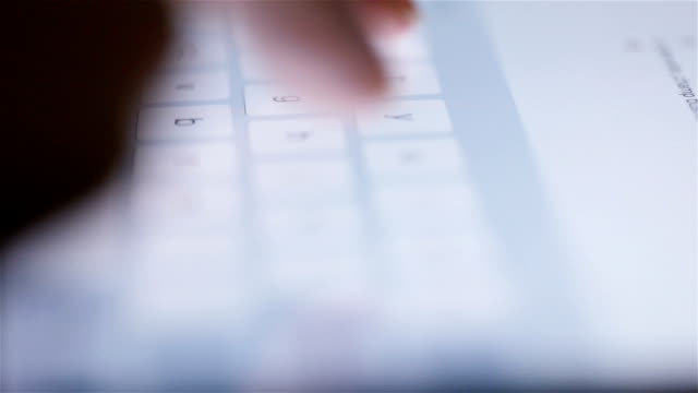 close up of woman hands typing tablet - hot desking stock videos & royalty-free footage