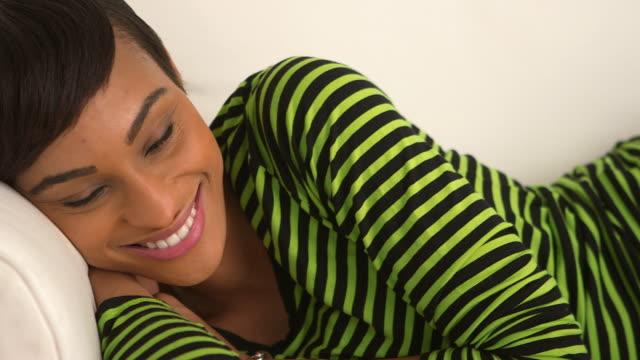 Close up of woman smiling at camera