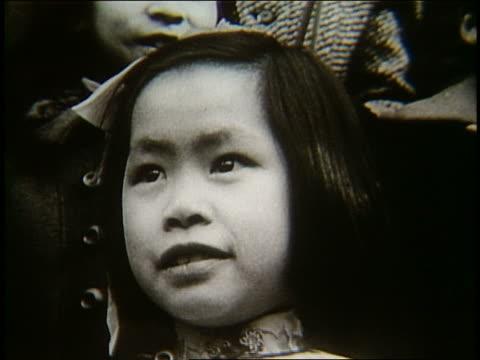 b/w close up of young asian girl - endast flickor bildbanksvideor och videomaterial från bakom kulisserna