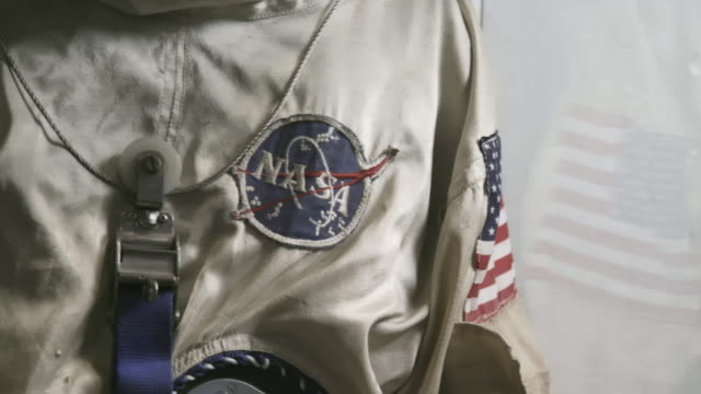 Close up, old astronaut uniform