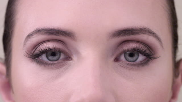 ECU close up on woman smiling  eyes