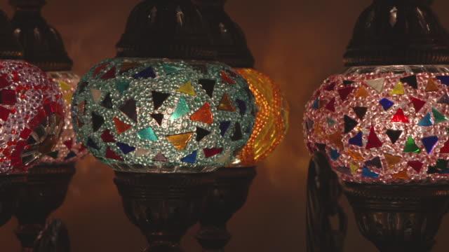 close up oriental lamp
