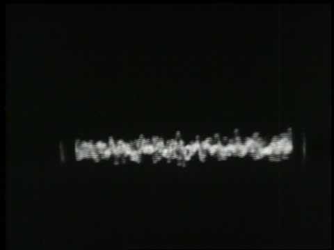 b/w 1938 close up oscillating lines in controls in recording studio - audio available stock videos & royalty-free footage
