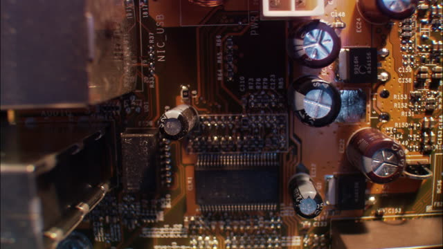 close up over circuit boards - circuit board stock videos & royalty-free footage