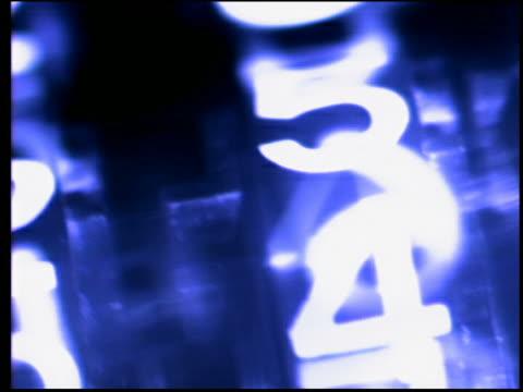 vídeos de stock, filmes e b-roll de close up pan numbers turning on gauge - foco difuso