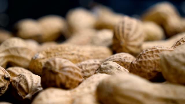 ピーナッツを閉じます。 - ナッツの殻点の映像素材/bロール