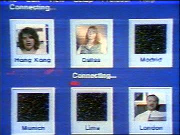 close up people from around the world appearing on computer screen / video conferencing - mellanstor grupp av människor bildbanksvideor och videomaterial från bakom kulisserna