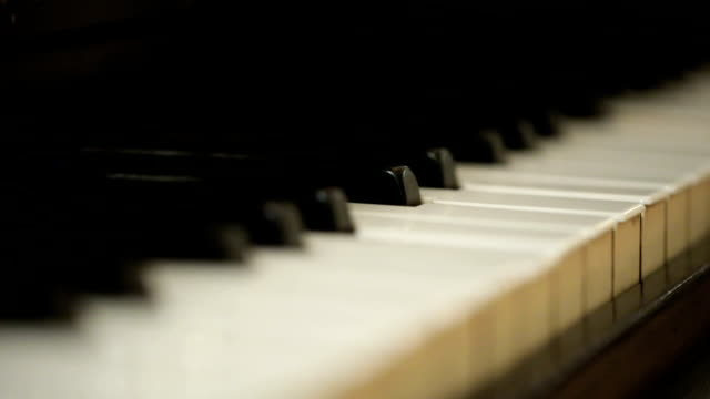 close up piano keyboard - piano stock videos & royalty-free footage