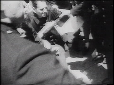 b/w 1967 close up police trying to break up fighting at vietnam war demonstration / nyc - peace demonstration stock videos and b-roll footage