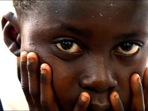Close up portrait boy/ Ghana