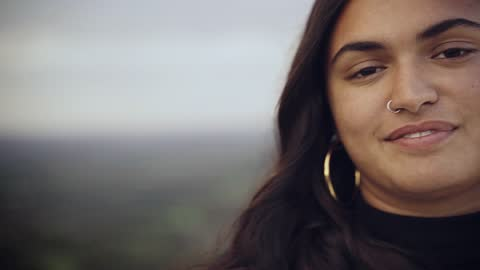 close up portrait of a beautiful mixed race teenager - human head stock videos & royalty-free footage