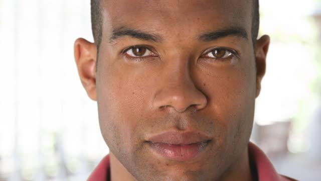 Close up portrait of man's face