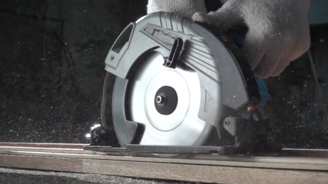 close up power tools working - hand saw stock videos and b-roll footage