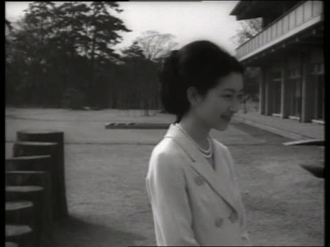 b/w close up princess michiko of japan / 1960's / sound - japanese royalty stock videos and b-roll footage