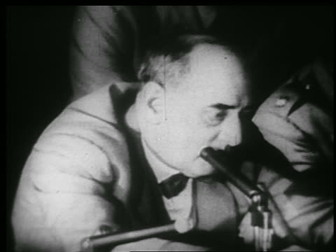 b/w 1953 close up profile joseph welch talkin into microphone at mccarthyarmy hearings - 1953 stock videos and b-roll footage
