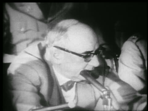b/w 1953 close up profile joseph welch talking in mccarthyarmy hearings - 1953 stock videos and b-roll footage