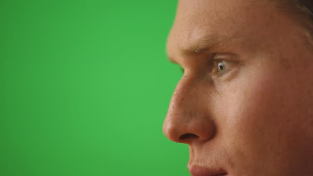 close up profile of male face - profile stock videos & royalty-free footage