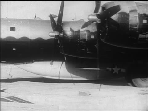 close up propeller of b-29 that will help launch yeagers' bell x-1 / california / newsreel - 1947 stock videos & royalty-free footage