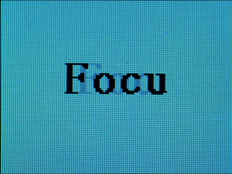 "close up rack focus ""focus"" being typed on computer screen - western script stock videos & royalty-free footage"