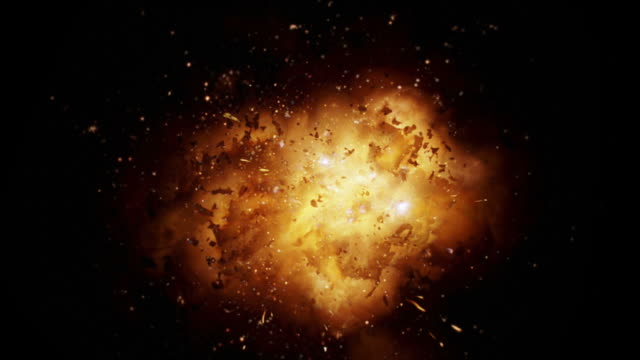 close up realistic blasts and explosions + alpha - black background stock videos & royalty-free footage