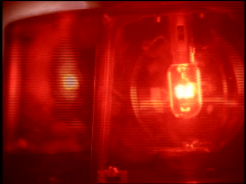 close up red flashing lights